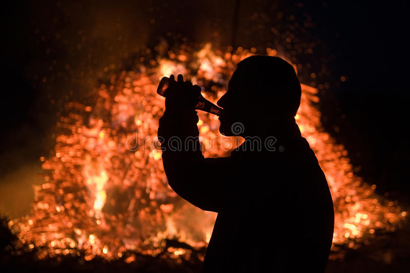 Download Huge Bonfire With Easter Royalty Free Stock Images - Image: 24336489