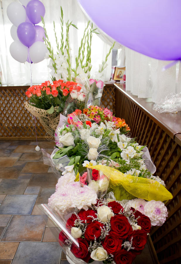 Huge bouquets of flowers stock image. Image of horizontal - 90632853