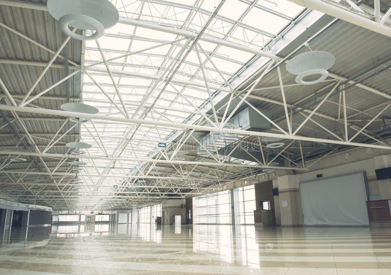 Big building with concrete floor stock image