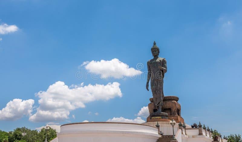 The huge Buddha at Phutthamonthon park royalty free stock photography