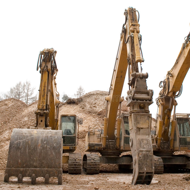 Huge Bulldozers Royalty Free Stock Photo