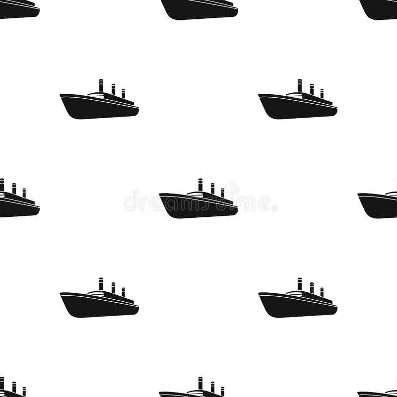 Huge cargo black liner.Ship for transportation of heavy thunderstorms on the sea and the ocean .Ship and water transport royalty free illustration