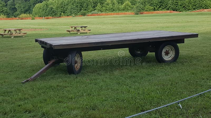 Huge Cart In A Field Stock Image Image Of Wheels Field - Huge picnic table