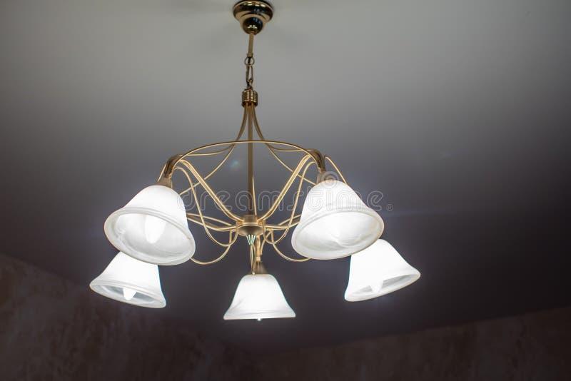 Huge chandelier closeup stock image