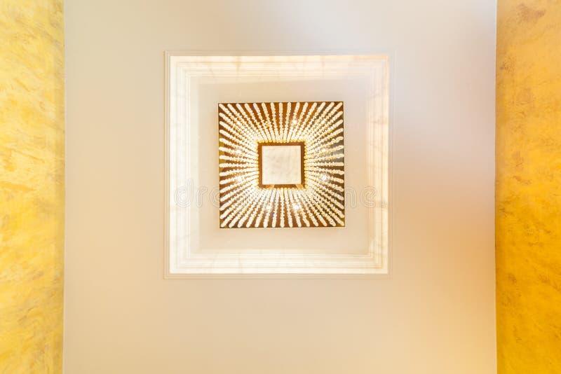 Huge chandelier closeup stock images