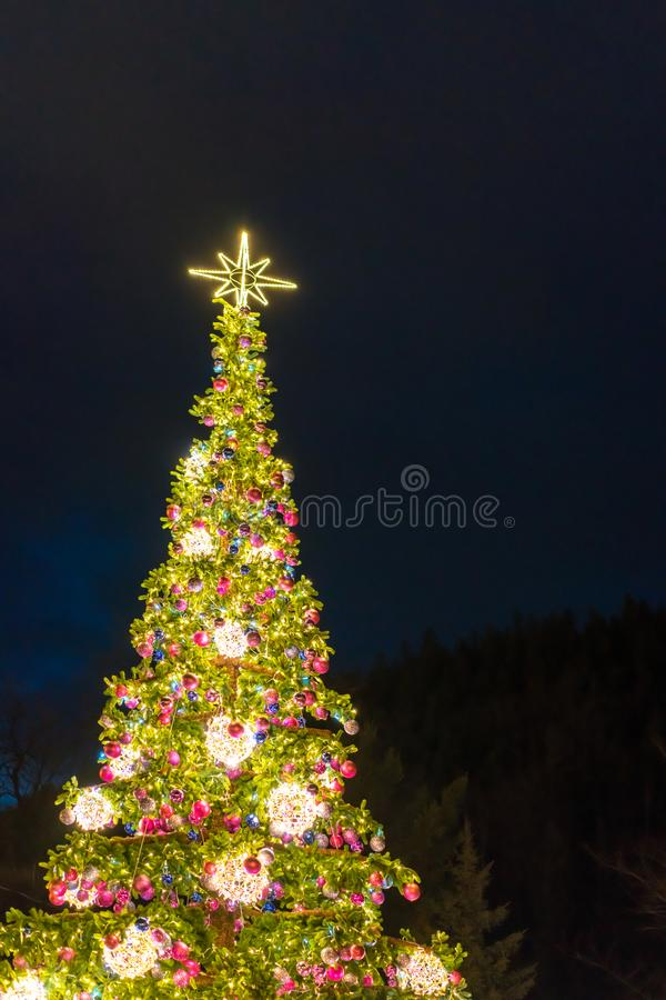 Download Huge Christmas Tree In Poland Stock Image