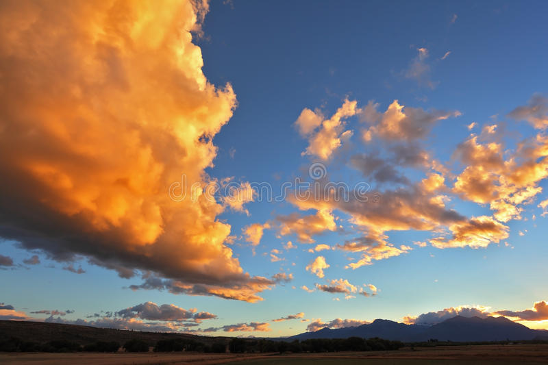 Download The huge cloud of orange stock photo. Image of rural - 36682614