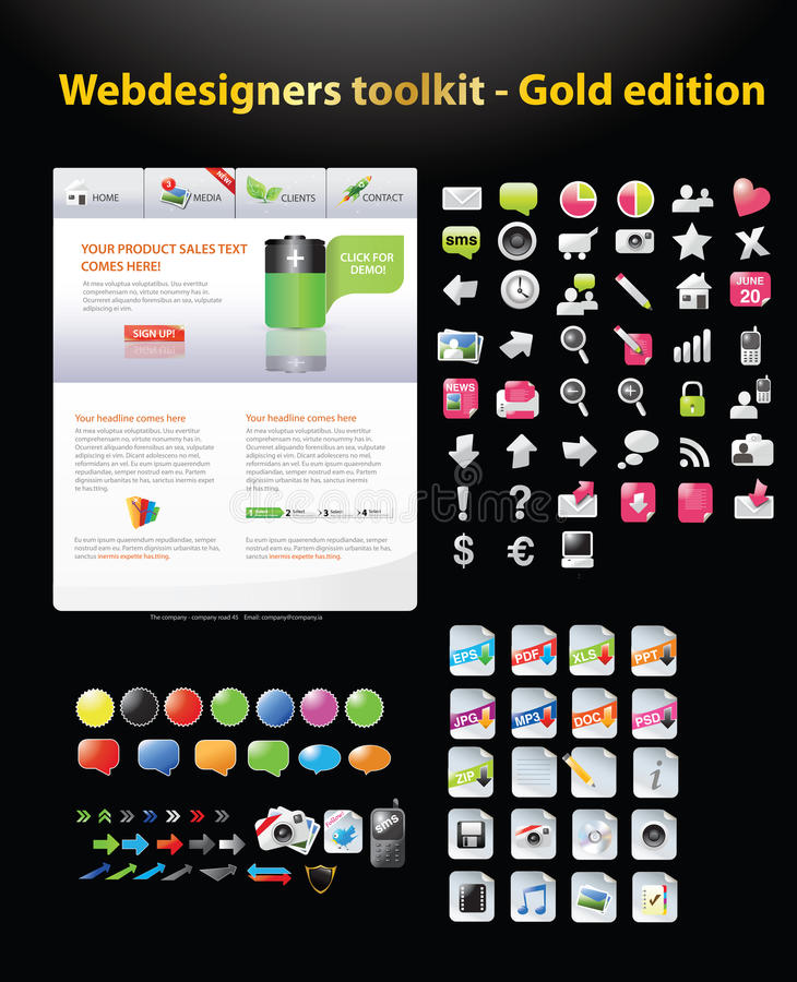 Download Huge Collection Of Web Graphics Stock Illustration - Image: 16547652