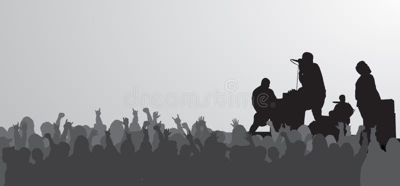 Download Huge Concert stock illustration. Illustration of sing - 2483830