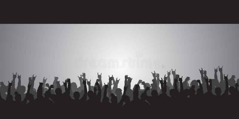 Download Huge Crowd stock vector. Image of protest, mosh, rockers - 2483823
