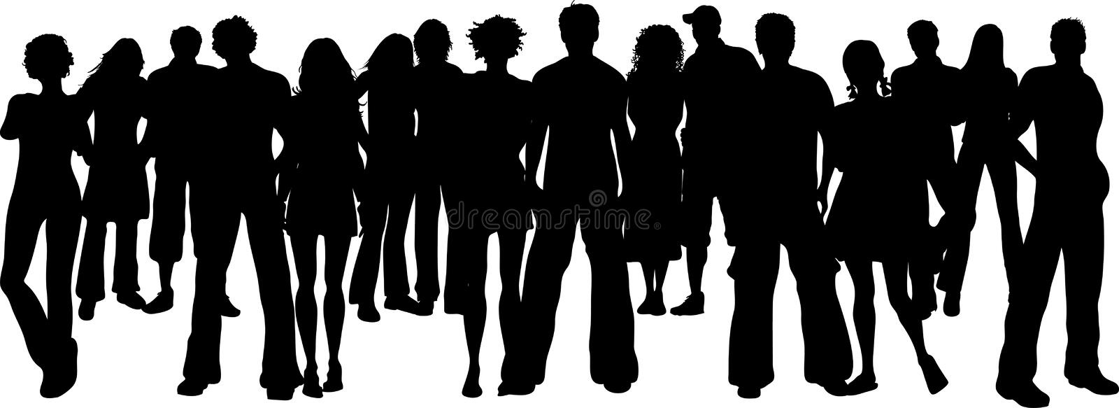 Download Huge crowd stock vector. Image of girl, youth, male, friend - 5867825