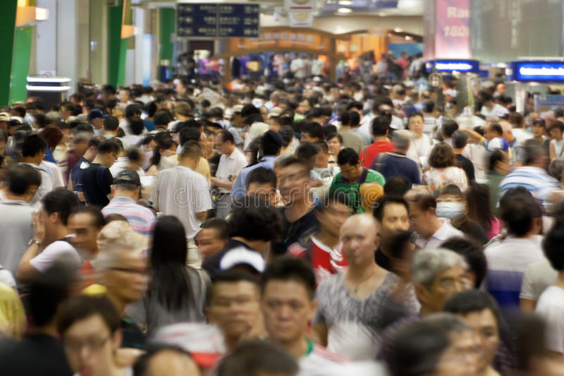 Huge crowds of people stock image