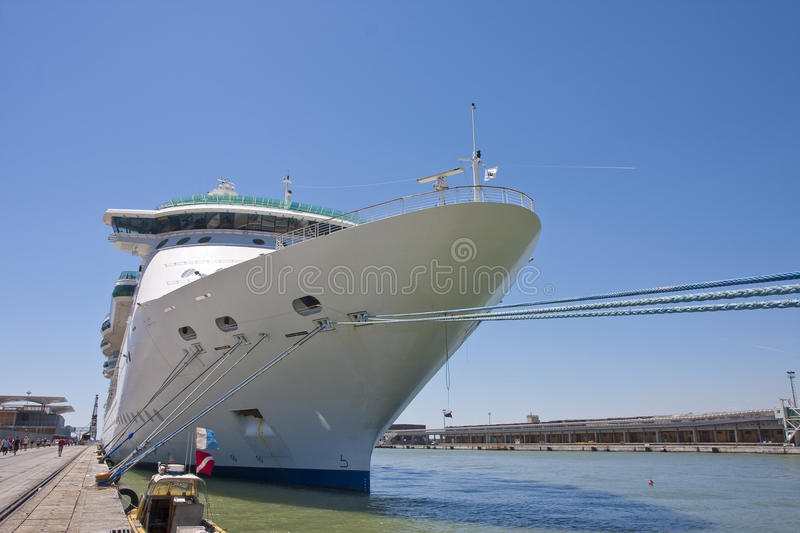 Download Huge Cruise Ship Tied At Dock Stock Image - Image: 11067339