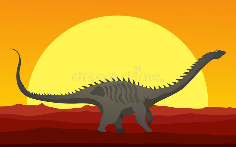 Download Huge Dinosaur In The Sunset Royalty Free Stock Photo - Image: 27694375