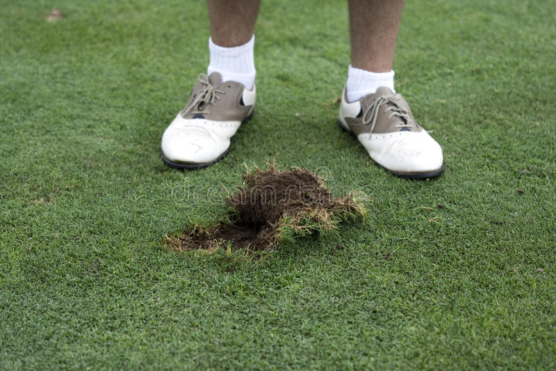 Download A huge divot stock image. Image of annoyed, club, golf - 15519465