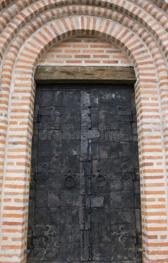 Huge doors to the temple. Ukraine royalty free stock images