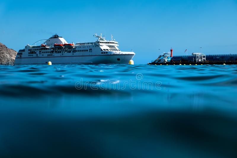 Huge ferry boat on Tenerife royalty free stock photography
