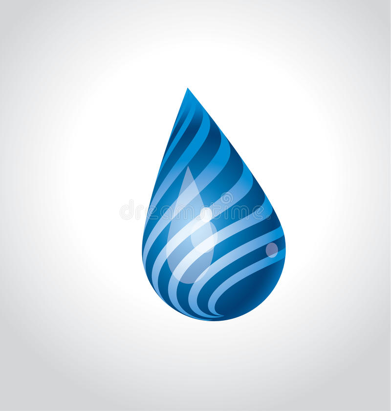 Huge funny water rain drop concept. blue water funny. Vector illustration vector illustration