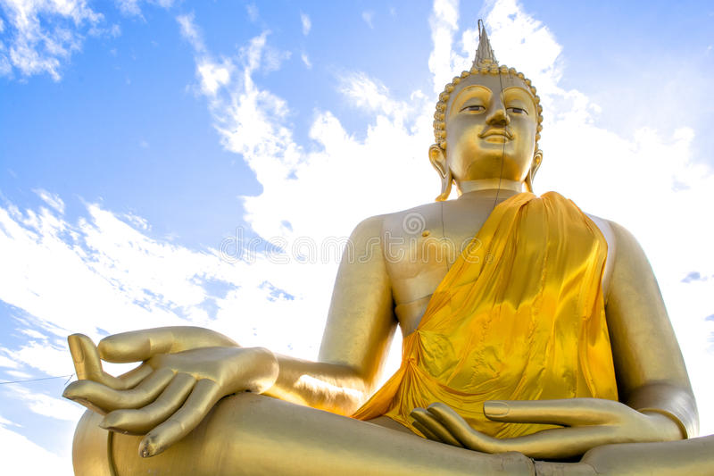 Download Huge golden Buddha stock image. Image of faith, buddha - 63990099