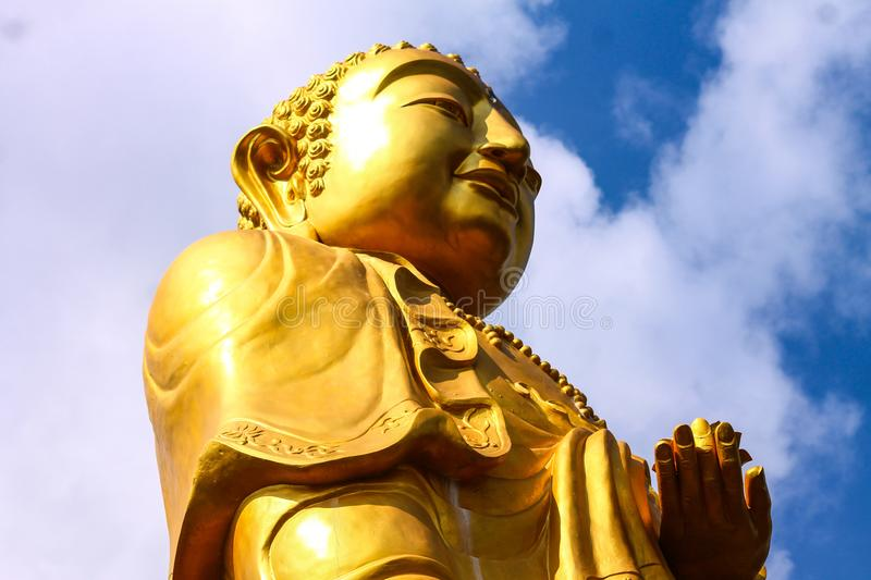 Buddha in the sky stock photography