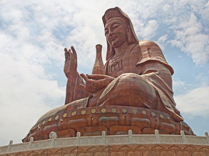 Huge Guanyin bronze stock photos