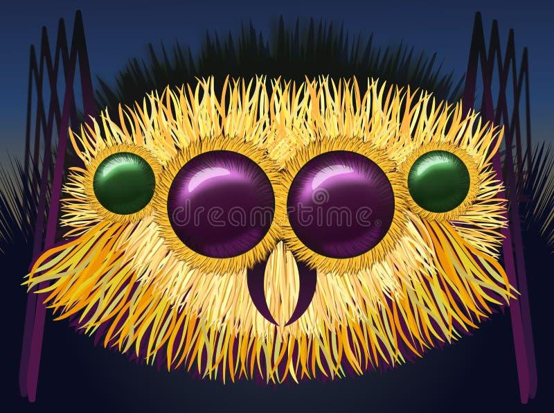 Huge hairy spider. Image of the huge hairy spider - illustration vector illustration