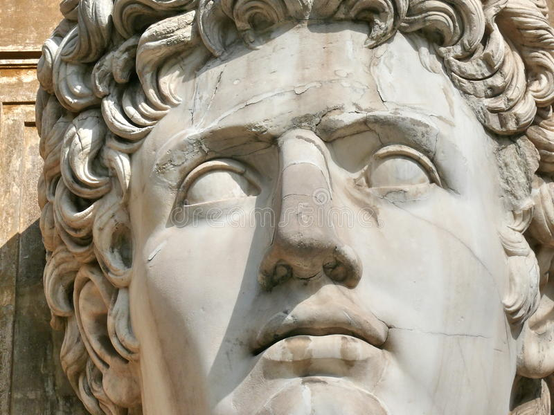 Huge head carved in marble. Vatican. Rome. Italy royalty free stock photos