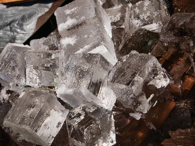 Giant Ice Cubes for Drinks stock image