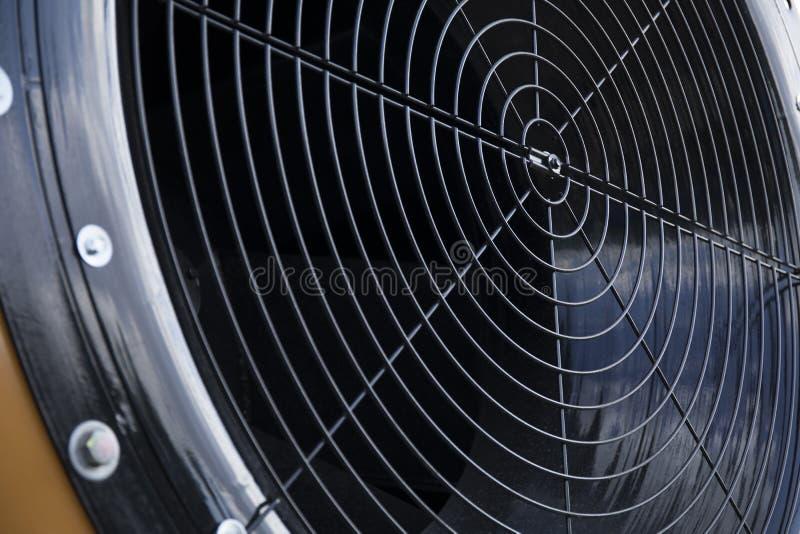 Huge industrial cooling fan, big cooler element close up stock image