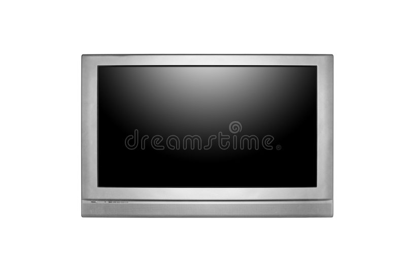 Download Huge LCD Or Plasma TV Hanging On A Wall Stock Photo - Image: 6580508