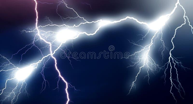 Huge lightnings vector illustration