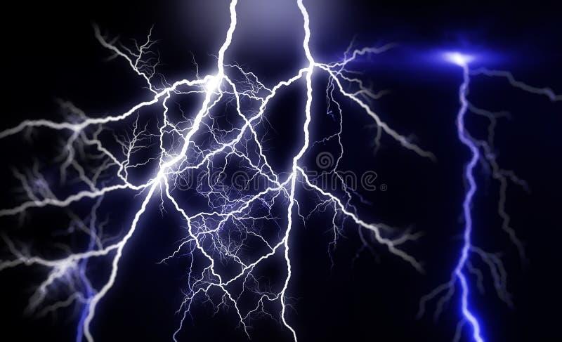 Huge lightnings stock illustration