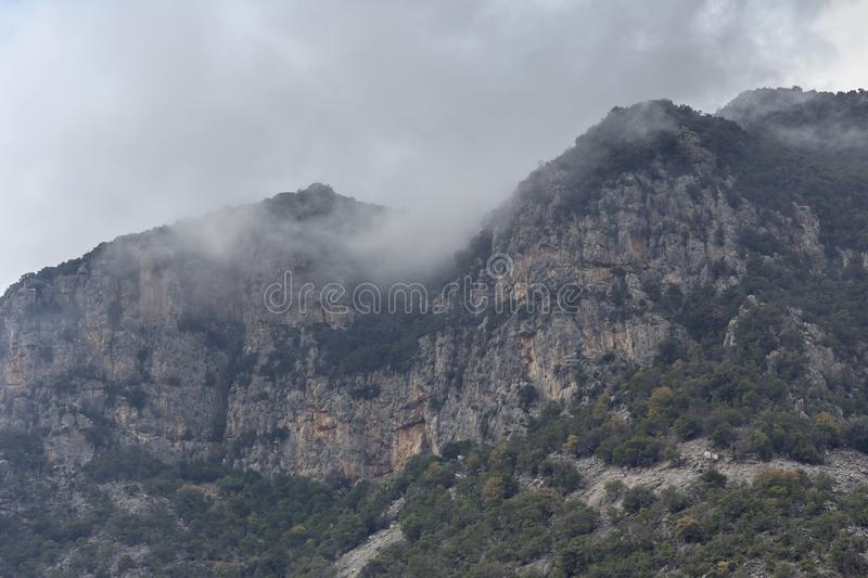 A huge, majestic mountain Greece royalty free stock images