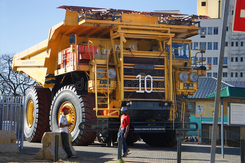 Huge mining dump truck royalty free stock image