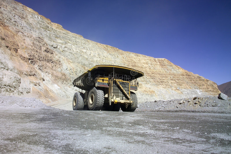 Huge mining truck royalty free stock image