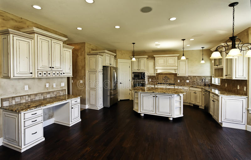 Huge New Kitchen And Dining Room Royalty Free Stock Image