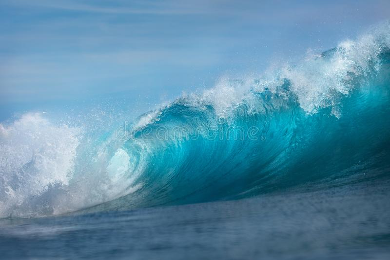 Huge Ocean surfing wave rising royalty free stock photography