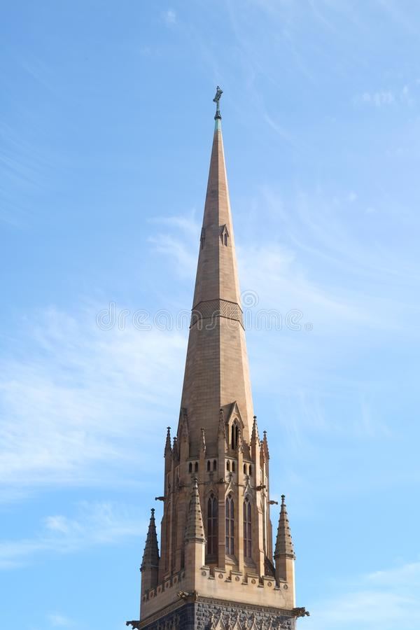 Massive church of melbourne australia. Huge old church in melbourne royalty free stock photo