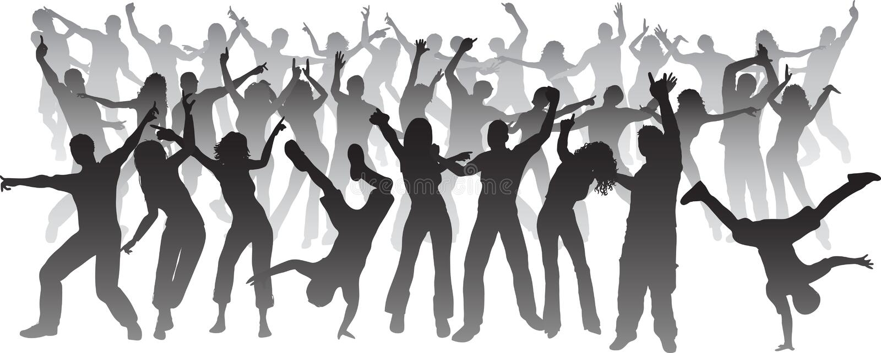 Huge party vector illustration