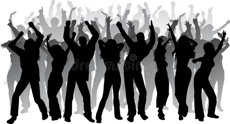 Huge party stock illustration