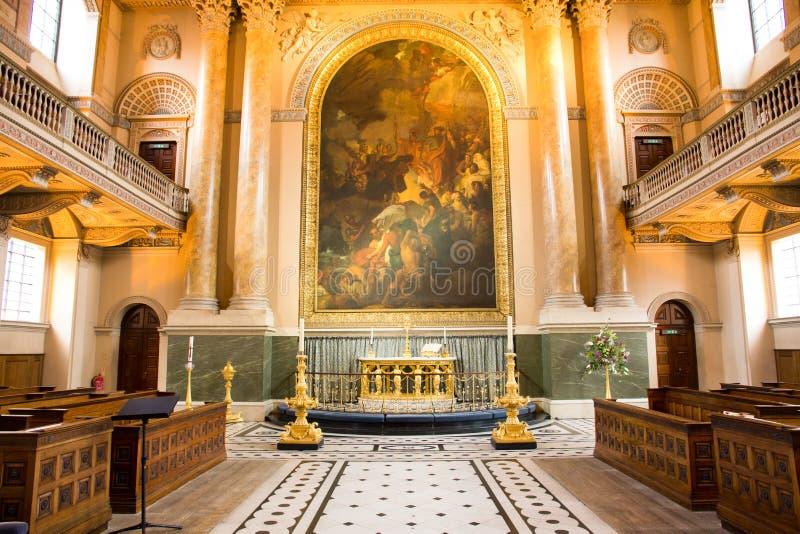 Church in University of Greenwich, London, England stock photo
