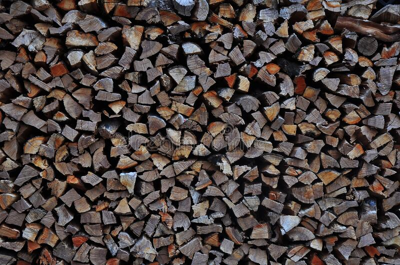 Huge Pile of Cut Logs stock photography