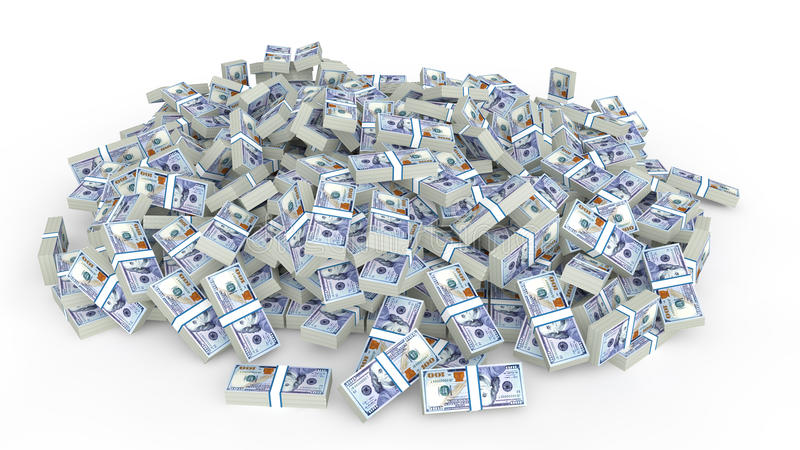Huge pile of dollars cash royalty free stock image