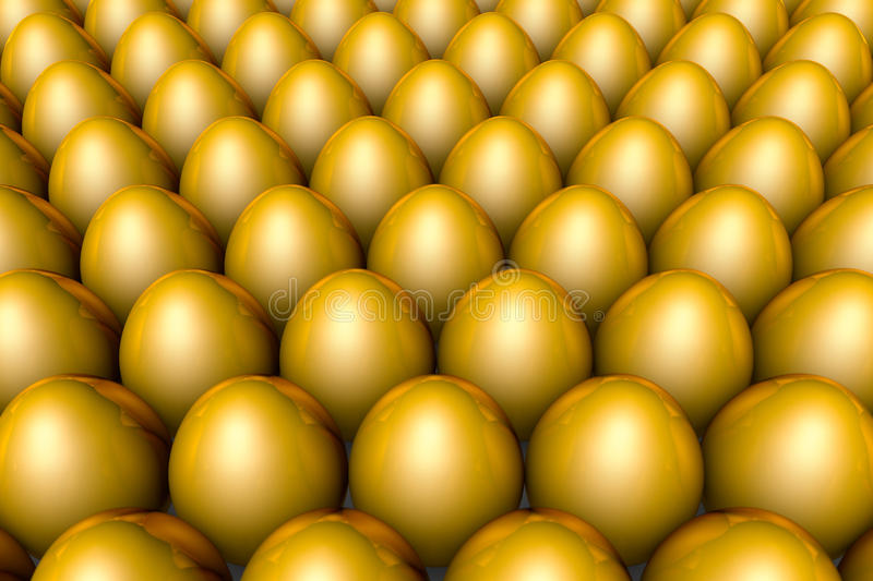 The huge profits. Golden eggs. 3D illustration render. Golden eggs. Conceptual illustration. Available in high-resolution and several sizes to fit the needs of vector illustration