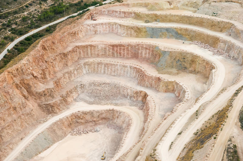 Huge quarry royalty free stock images