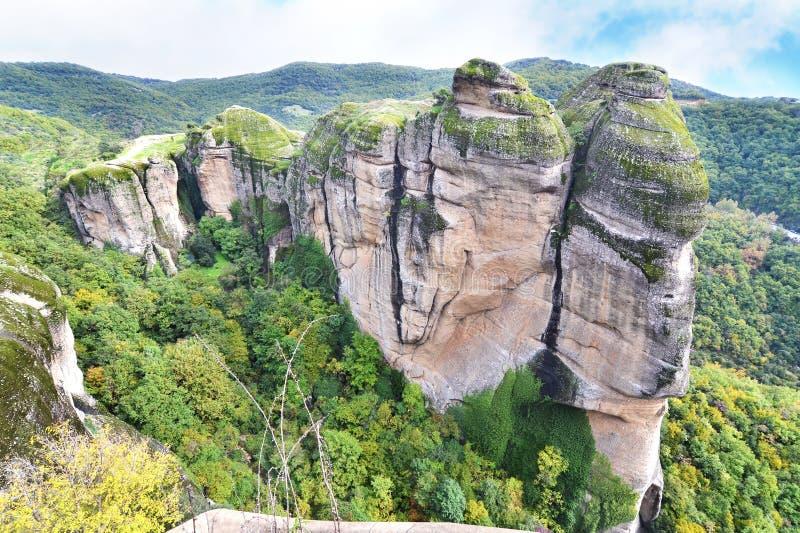 The huge rocks of Meteora Kalabaka Greece stock photo