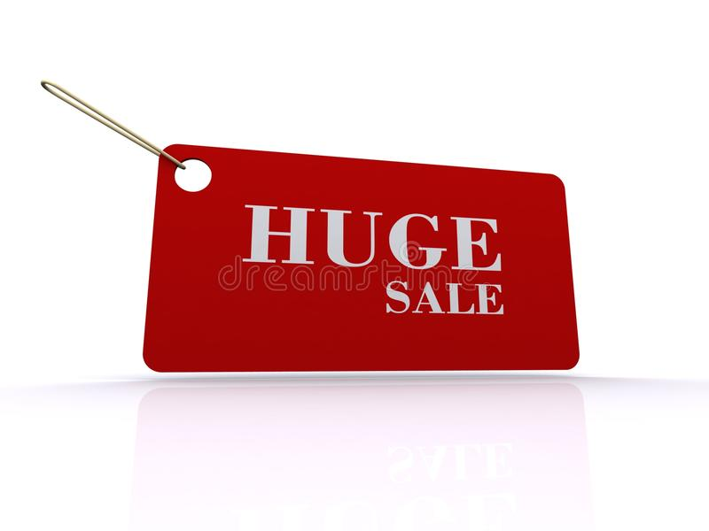Huge Sale Tag Or Label Royalty Free Stock Photo