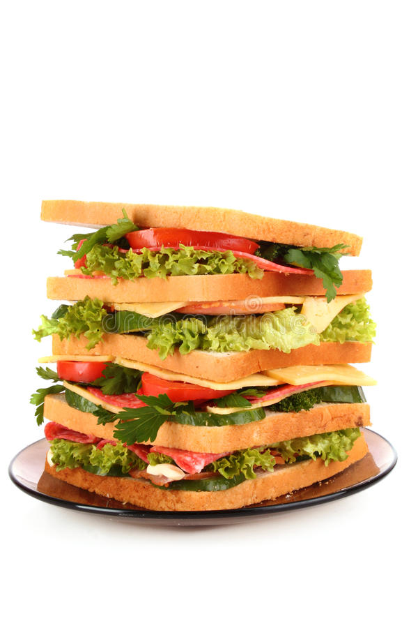 Download Huge sandwich stock image. Image of isolated, chop, large - 18298459