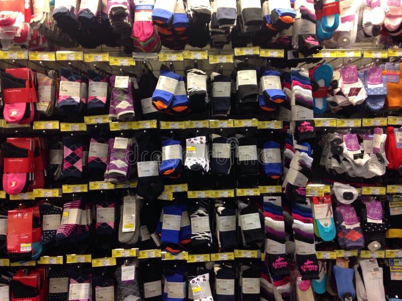 Huge selection of socks stock image