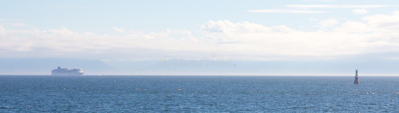 Download Huge Ship in the Haze stock image. Image of recreation - 35055213